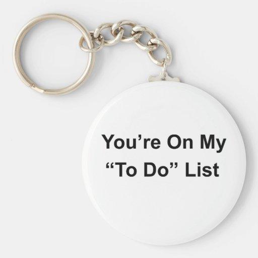 Cheeky slogan! key chain