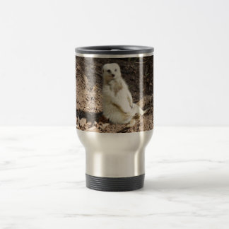 Cheeky White Meerkat, Travel Mug