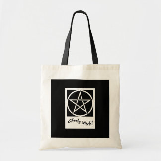 Cheeky Witch Bag - Black & White