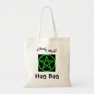 Cheeky Witch Hag Bag - Green Pentagram