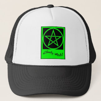 Cheeky Witch Pentagram Collection (Green) Trucker Hat