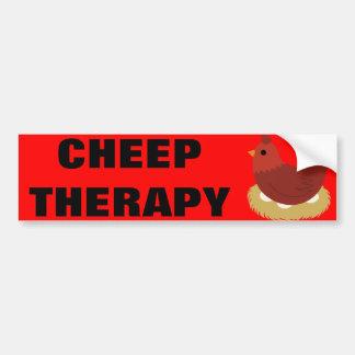 Cheep Therapy Bumper Sticker