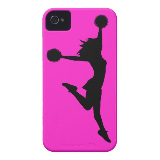 Cheer 1 iPhone 4 Case Black on Pink