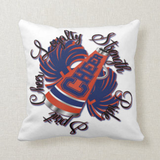 Cheer Blue and Orange Qualitie Customizable Pillow