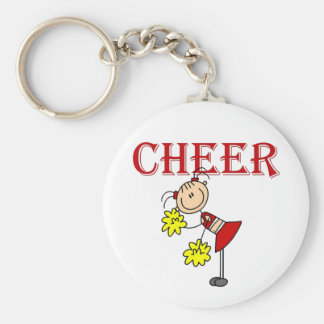 CHEER Cheerleader Tshirts and Gifts Basic Round Button Key Ring