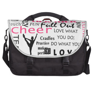 cheer cheerleading pink and black bags for laptop