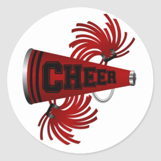 Cheer Classic Round Sticker