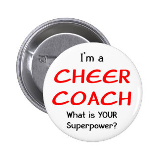 Cheer coach 6 cm round badge