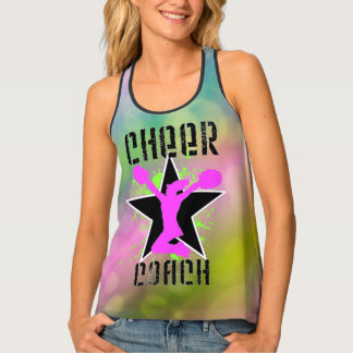 Cheer Coach all over print tank top