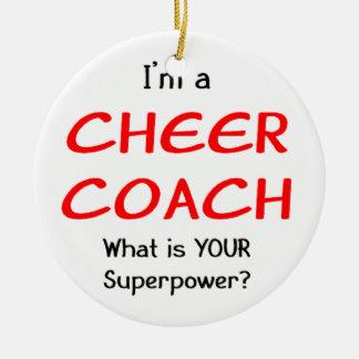 Cheer coach christmas ornament