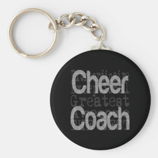 Cheer Coach Extraordinaire Basic Round Button Key Ring