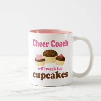 Cheer Coach (Funny) Gift Two-Tone Mug