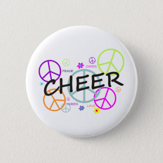 Cheer Colored Peace Signs 6 Cm Round Badge