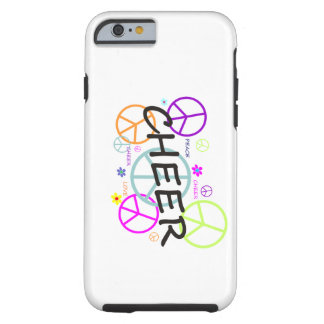 Cheer Colored Peace Signs Tough iPhone 6 Case