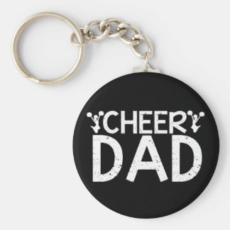 Cheer Dad Basic Round Button Key Ring