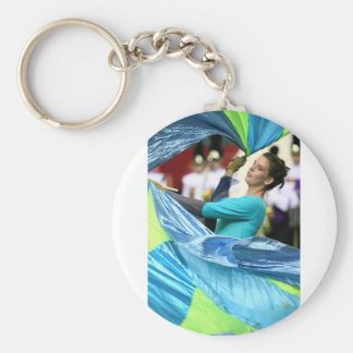 Cheer Dance Basic Round Button Key Ring