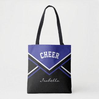 Cheer Dark Blue Cheerleader Outfit Tote Bag