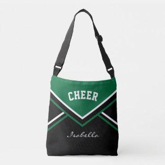 Cheer Dark Green Cheerleader Outfit Tote Bag