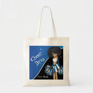 Cheer Diva Blue Cheerleader Canvas Bag