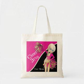 Cheer Diva Pink Cheerleader Canvas Bags
