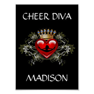 CHEER DIVA POSTER PERSONALIZE