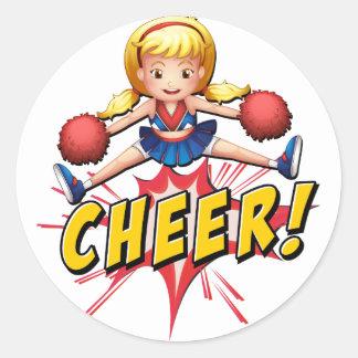 Cheer flash logo round sticker