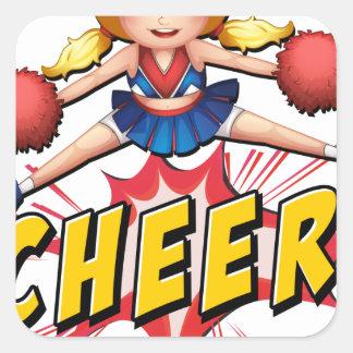 Cheer flash logo square sticker