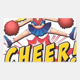 Cheer flash logo rectangular sticker