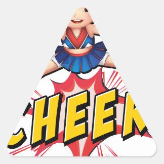 Cheer flash logo triangle sticker