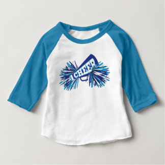 Cheer in Blue, White & Baby Blue Baby T-Shirt