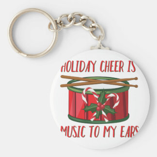 Cheer Is Music Basic Round Button Key Ring