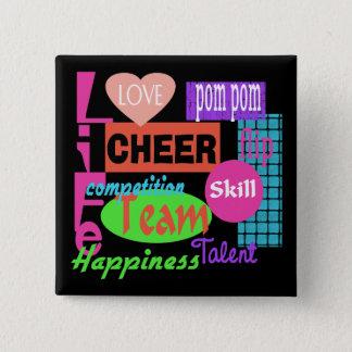 Cheer Life 15 Cm Square Badge