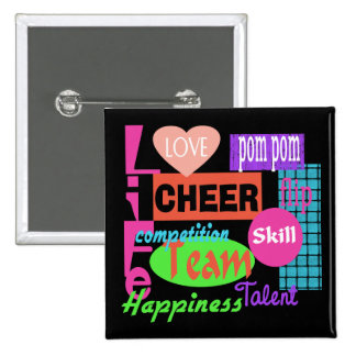Cheer Life 15 Cm Square Badge