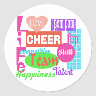 Cheer Life Classic Round Sticker