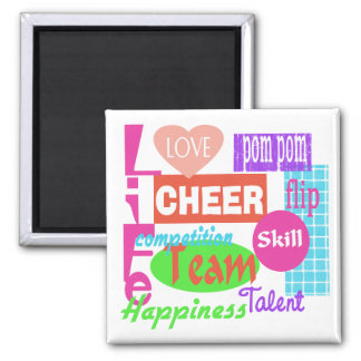 Cheer Life Square Magnet