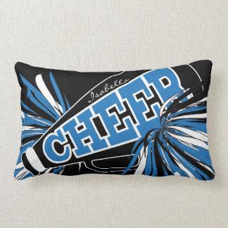 Cheer Megaphone - Blue Cheerleader Lumbar Cushion