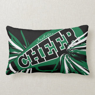 Cheer Megaphone - Dark Green Cheerleader Lumbar Cushion