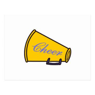 Cheer Megaphone Postcard