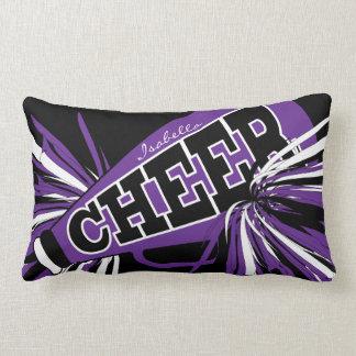 Cheer Megaphone - Purple Cheerleader Lumbar Cushion