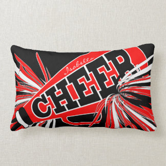Cheer Megaphone - Red Cheerleader Lumbar Cushion
