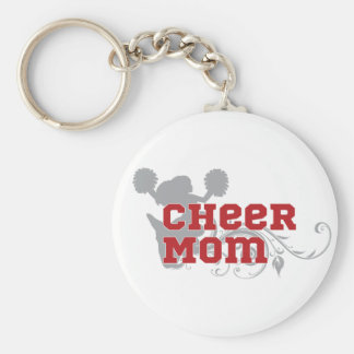 Cheer Mom Cheerleading Keychain Button