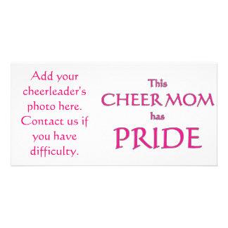 Cheer mom has pride! Proud cheer mom Photo Greeting Card