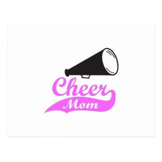 CHEER MOM MEGAPHONE POSTCARD