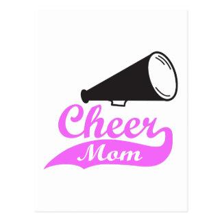 CHEER MOM MEGAPHONE POST CARD