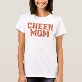 Cheer Mom Orange Glitter T-Shirt