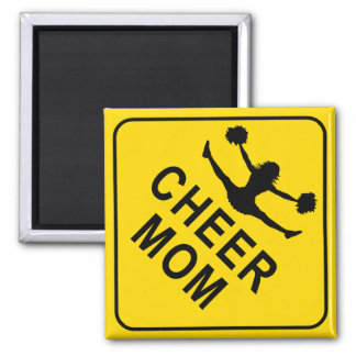 Cheer Mom Square Magnet
