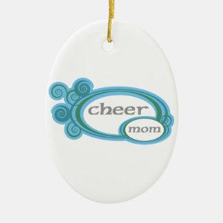 Cheer Mom Swirl Ceramic Oval Decoration