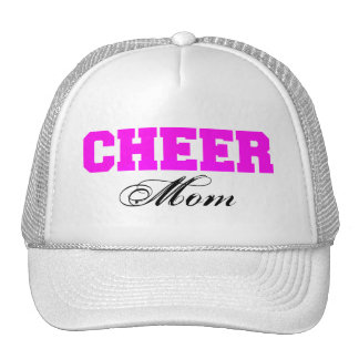 Cheer Mom Typography in Pink and Black Cap
