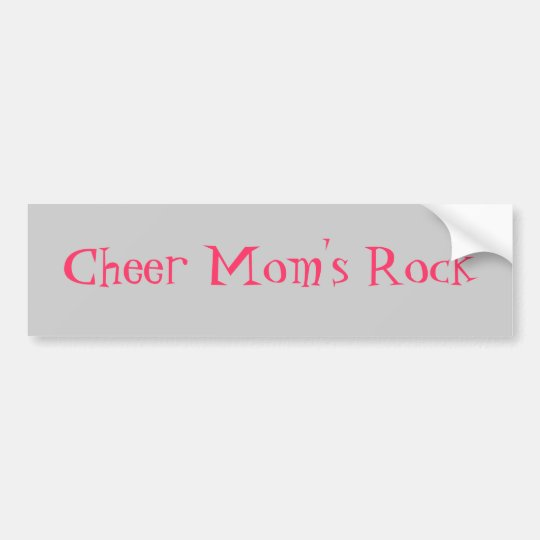 Cheer Mum's Rock Bumper Sticker