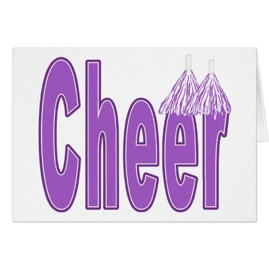 Cheer Purple Card